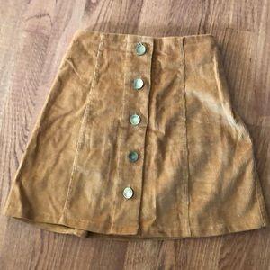 Tan Corduroy Skirt Size Small